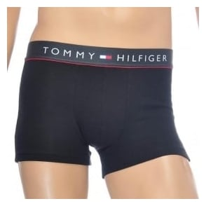 Tommy Hilfiger Cotton Flex Boxer Trunk, Black