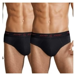 Jockey 3D-Innovations Stretch 2-Pack Brief, Black