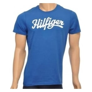 Tommy Hilfiger Norton Organic Cotton Short Sleeved Crew Neck T-Shirt, Blue