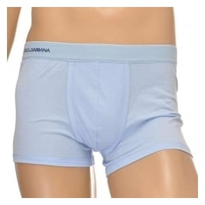 Dolce & Gabbana Pure Cotton Regular Boxer, Light Blue