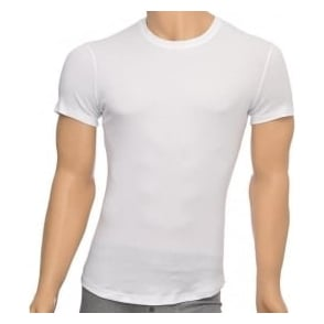 DSQUARED2 Rib Cotton Stretch Crew Neck T-shirt, White
