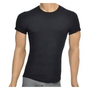 DSQUARED2 Rib Cotton Stretch Crew Neck T-shirt, Black