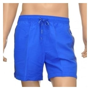Calvin Klein CK One Logo Tape Swim Shorts, Royal Blue
