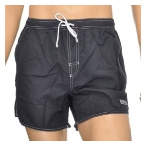 HUGO BOSS Lobster Swim Shorts, Black