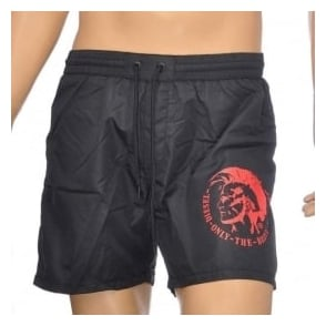DIESEL BMBX Wave E Mohawk Swim Shorts, Black
