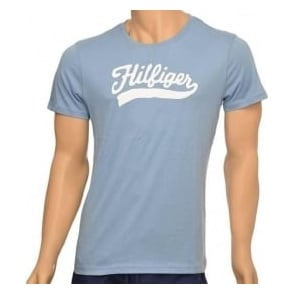 Tommy Hilfiger Organic Cotton Short Sleeved Crew Neck T-Shirt, Denim