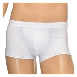 Just Cavalli Cotton Stretch Boxer Trunk, White