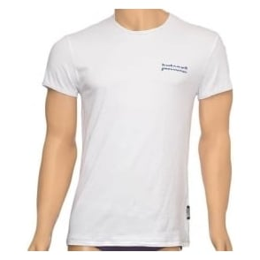 Just Cavalli Cotton Stretch Crew Neck T-shirt, White