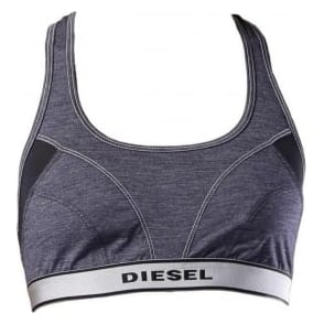 DIESEL Women Miley S Stretch Jersey Bralette, Blue
