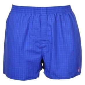 Thomas Pink Woven Boxer Short, Blue Check