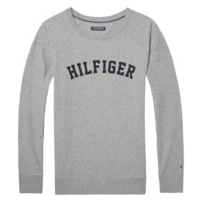 Tommy Hilfiger Women Iconic LWK Long Sleeve Track Top, Grey
