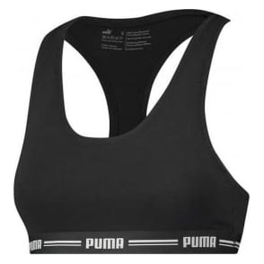 PUMA Women Cotton Modal Stretch Iconic Bralette, Black