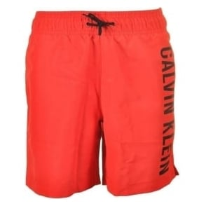 Calvin Klein Boys Intense Power Swim Shorts, Poppy Red
