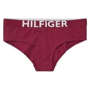 Tommy Hilfiger Women Bold Cotton Shorty, Beetroot Red