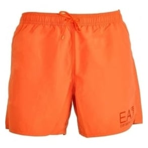 EA7 Emporio Armani Sea World Eagle Swim Shorts, Orange