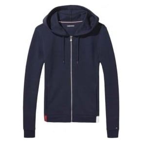 Tommy Hilfiger Women Flag Cotton Hoody, Navy