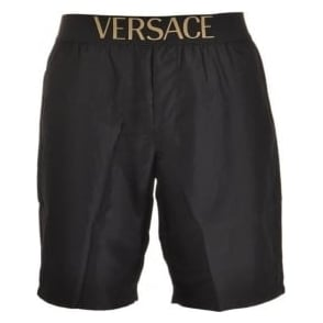 Versace Apollo Swim Shorts, Black