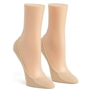 Calvin Klein Women 2 Pack Cotton No Show Liner Socks, Nude