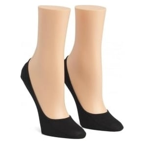 Calvin Klein Women 2 Pack Cotton No Show Liner Socks, Black