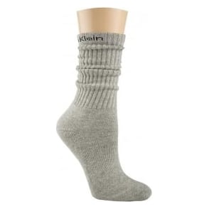 Calvin Klein Women Modern Cotton Slouch Socks, Oxford Heather Grey