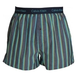 Calvin Klein Woven Slim Fit Boxer, Boat Stripe Intuition
