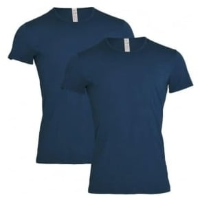 Sloggi 24/7 2-Pack Crew Neck T-Shirt, Midnight Blue