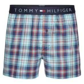 Tommy Hilfiger Icon Woven Boxer Short, Poppy Red Check