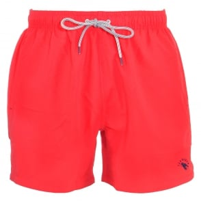 TED BAKER DANBURY Plain Swim Shorts, Red
