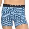 HUGO BOSS Cotton Stretch 2-Pack Cyclist Boxer Brief, Navy/Chequered Print