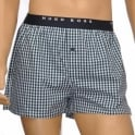 HUGO BOSS Woven Boxer Short 2-Pack, Turquoise / Aqua Blue Stripe & Check