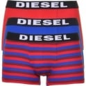 DIESEL 3-Pack Boxer Trunk UMBX-Shawn, Blue/Red/Stripe
