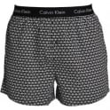 Calvin Klein Woven Slim Fit Boxer, Triangle Wedge Print - Black