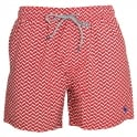 TED BAKER CAVEN Rectangle Geo Swim Shorts, Red