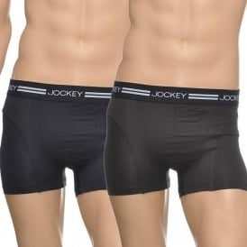 Jockey Sport Microfiber Active 2-Pack Trunk, Raven