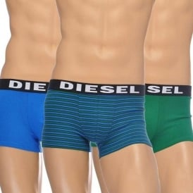 DIESEL 3-Pack Boxer Trunk UMBX-Shawn, Blue/Green/Stripe