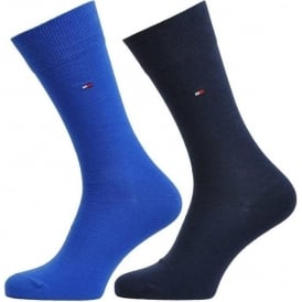 Tommy Hilfiger Classic 2 Pack Cotton Logo Socks, Tommy Classic