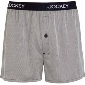 Jockey USA Originals Woven Boxer Short, Navy