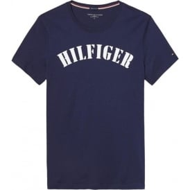 Tommy Hilfiger Organic Cotton Short Sleeved Crew Neck T-Shirt, Peacoat Blue