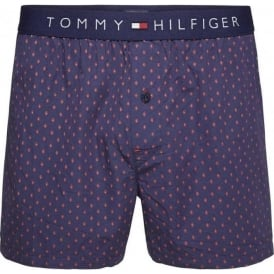 Tommy Hilfiger Icon Foulard Woven Boxer Short, Peacoat