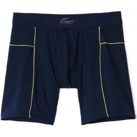 Lacoste Motion Micro Mesh Stretch Boxer Brief, Blue/Yellow