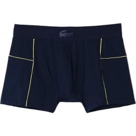Lacoste Motion Micro Mesh Stretch Boxer Trunk, Blue/Yellow