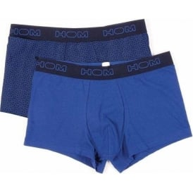 HOM Boxerlines Boxer Brief 2-Pack, Blue/Navy Print