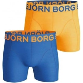 Bjorn Borg 2 Pack Neon Solids Shorts, Blue / Orange