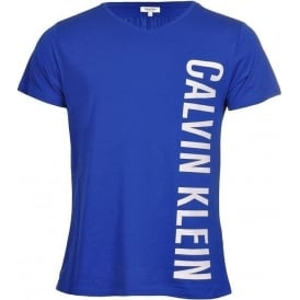 Calvin Klein Intense Power Swimwear Rounded V-Neck T-Shirt, Blue
