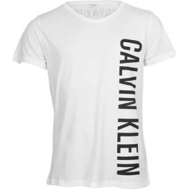 Calvin Klein Intense Power Swimwear Rounded V-Neck T-Shirt, White