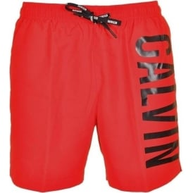 Calvin Klein Intense Power Swim Shorts, Red