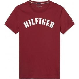 Tommy Hilfiger Organic Cotton Short Sleeved Crew Neck T-Shirt, Red