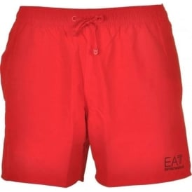 EA7 Emporio Armani Sea World Core Swim Shorts, Red