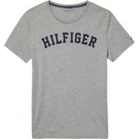 Tommy Hilfiger Organic Cotton Short Sleeved Crew Neck T-Shirt, Heather Grey