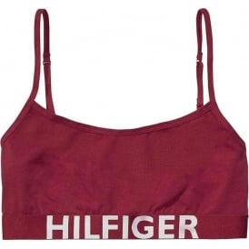 Tommy Hilfiger Women Bold Cotton Bralette, Beetroot Red